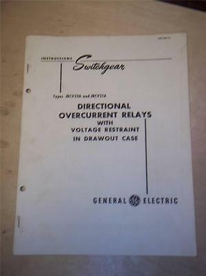 General Electric Manual Directional Overcurrent Relay~JBC V33A V51A~Switchgear