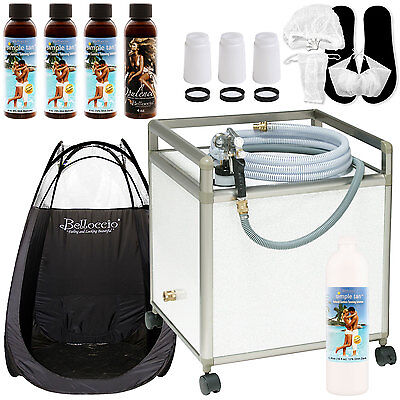 Apollo WHISPER MIST Sunless Airbrush SPRAY TANNING SYSTEM Machine Dark Kit Salon