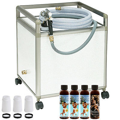 Apollo WHISPER MIST Pro Sunless Airbrush Spray TANNING SYSTEM Salon Kit Solution