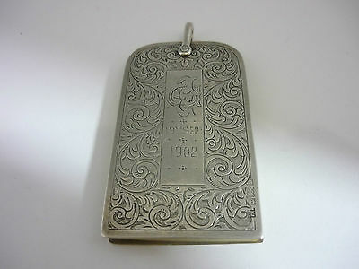 Stunning Rare Large 1901 Sterling Silver Dance Card Case By G Loveridge & Co