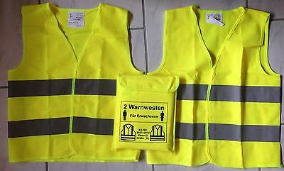 Warning West Set (2 Pcs) for 2 Adults According to EN 20471 Class 2