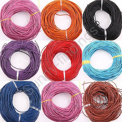 3m Flat Ribbon Faux Leather Jewelry  Findings Cord Thread String Rope 1.5/2mm