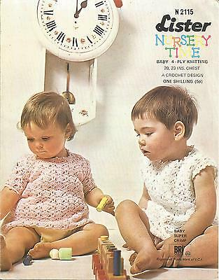 Vintage Crochet Pattern Dress For Baby With Optional Sleeves
