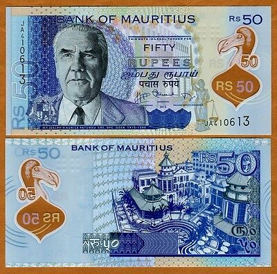 Mauritius, 50 rupees, 2013, P-New, First Polymer, UNC