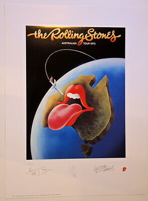 Rolling Stones - Lithograph - 1973 - Australia - Tour Poster - Keith Richards