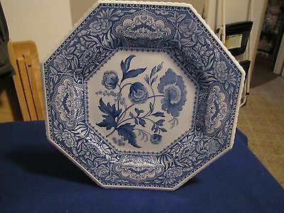 Blue Room Sutherland Collection Octagon 'Floral' Plate Made In England.  NICE!