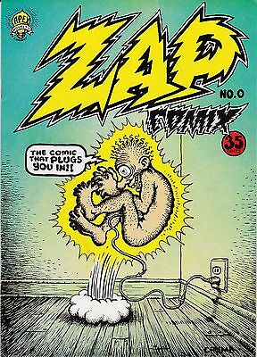 R. Crumb Zap Comix #0 Apex Novelty Co. 35-Cents Cover Price Second Printing!