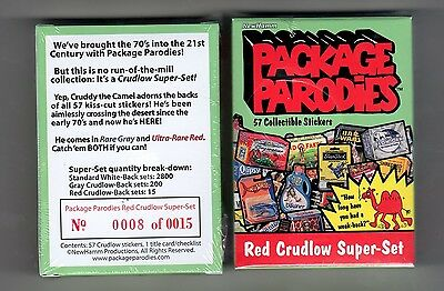2012 Package Parodies 1st & 2nd Series Red Ludlow 57 Card Super Set #08/15