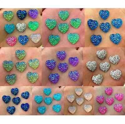 DIY 100pcs 14mm Resin Heart flatback Scrapbooking for phone/wedding many PICK