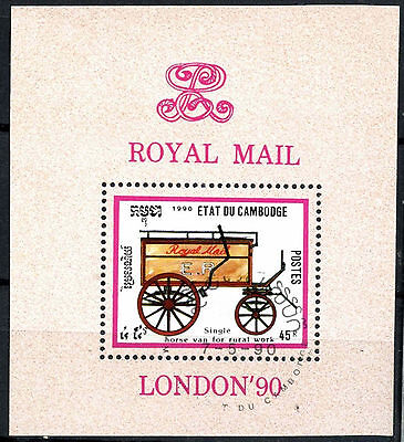 Cambodia 1990 SG#MS1057 Horse Drawn Transport Cto Used M/S #A84782