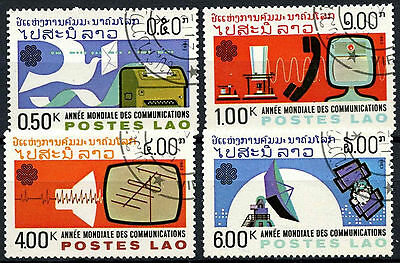 Laos 1983 SG#692-5 World Communications Year Cto Used Set #A84796