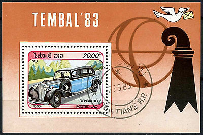 Laos 1983 SG#MS653 Tembal Stamp Exhibition Vintage Car Cto Used M/S #A84789