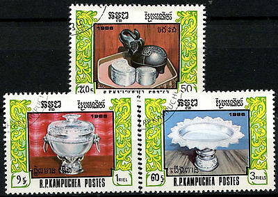 Kampuchea 1986 SG#778-780 Festival Of Rebirth Cto Used Set #A84757
