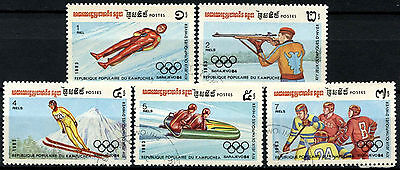 Kampuchea 1983 SG#475-9 Winter Olympic Games Cto Used Set #A84736