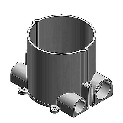 T & B 68-HP 6 in. round non-metallic floor box, the largest in the industry