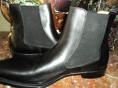 nib goodyear  hand made in ENGLAND BEXLEY black leather boots size 10.5 m