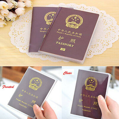 Clear Transparent Passport Cover Holder ID Card Travel Protector Organizer Case
