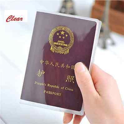 Clear Transparent Passport Cover Holder Case ID Card Travel Organizer Protector