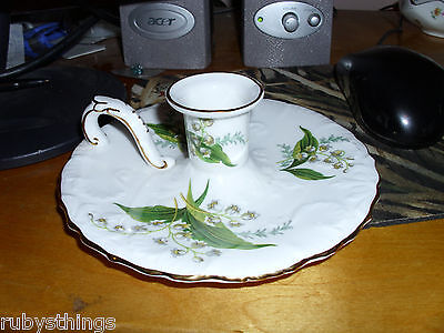 hammersley lily of the valley spode candle holders