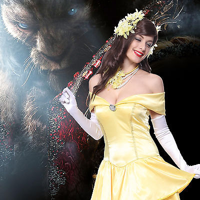 Halloween Cosplay costume Beauty and the Beast Bella e Bestia Giallo