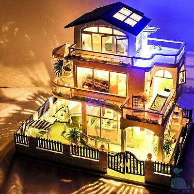 DIY Handcraft Miniature Project Dolls House My Holiday Villa in Vancouver Canada