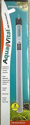 AQUAVITAL 200 Watt AQUARIUM HEATER EAN 9325136057317