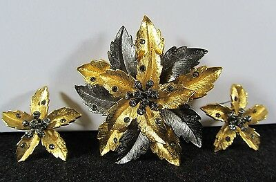 """Estate"" Beautiful Rare Signed Designer Joan Rivers Brooch & Earring Set"