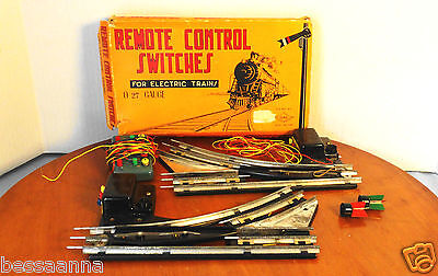 2 Vintage Boys Remote Control Switch Electric Trains w Box VT193030 See Listing