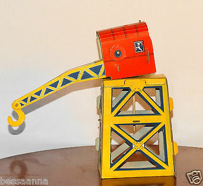 Vintage Marx Happy Happi Time Cardboard Farm or Train Accessory Crane VT1830010a