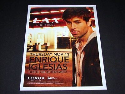 Enrique Iglesias Concert After Party @ Club LAX 15x12 Matted Event Promo NEW