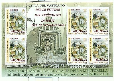 SANTUARIO - CHURCH VATICAN 2010 sheetlet
