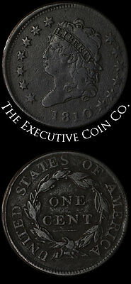1810 Large Cent Nice VF+ Detail S.283 A Lot Of Coin For The Money Great Value