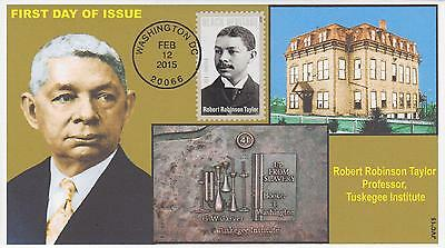 Jvc Cachets - 2015 Robert Robinson Taylor Black Heritage First Day Covers Fdc #2