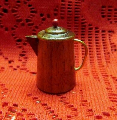 Awesome Rare Thimble Miniature Wood Coffee Pot (Great For Dollhouse Too!)