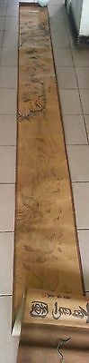 Collectibles Chinese Old Painting Long Scroll 100 Horses 100inch