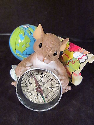 Charming Tails I'D BE LOST WITHOUT YOU Mouse Globe Compass