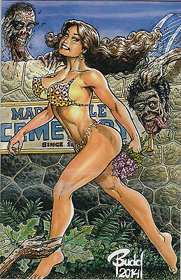 Cavewoman The Zombie Situation 2 Budd Root Special Edition Cover D