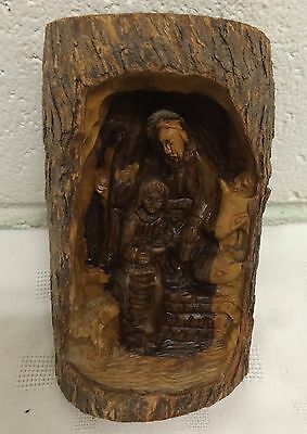 HOLY LAND SOUVENIR CARVED OLIVE WOOD HOLY FAMILY NATIVITY CRECHE DIORAMA ISRAEL
