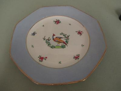 "E6 F Winkle Whieldon Ware Handpainted Exotic Bird 8 1/2"" Plate"