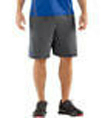 under armour heatgear combine training accelerant shorts mens small gray blue