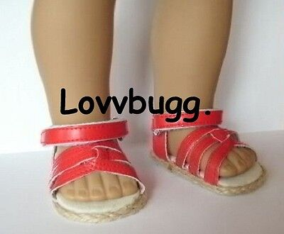 "Red Sandals Doll Shoes for 18"" American Girl THE WIDEST SELECTION ONLINE!"