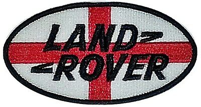 Land Rover St. Georges Flag oval sew-on embroidered cloth patch (yy)