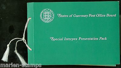 Guernsey Special Interpex  Presentation Packs As Issed Fresh