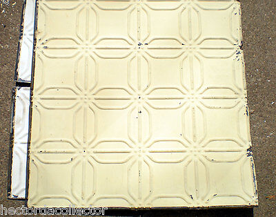 SALE  Antique Ceiling Tin Tile Frame Simple and Elegant Shabby Chic Canvas • CAD $60.48