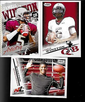 2015 HIT Jameis Winston (Florida State) 25ct Rookie Lot - 3 Different