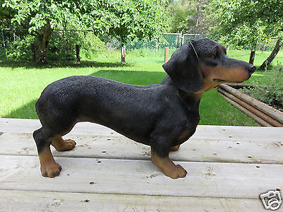DACHSHUND RESIN DOG STATUE DOGS FIGURINE PUPPY 19.5 in. CANINE HOME DECOR