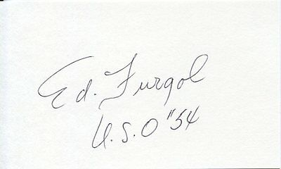 ED FURGOL: Deceased 1954 US Open Champ and PGA Player of the Year: Autograph