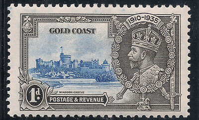Gold Coast Silver Jubilee 1935 1d Double Variety (Sg 113var) MLH