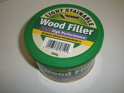 Wudfil Interior & Exterior Wood Filler Easy Stain Redwood Bench Pack 500 ml