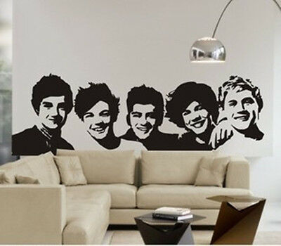 Large One Direction 1D wall stickers Decal Removable Decor Home Kids Nursery